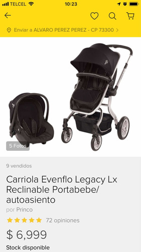 carriola evenflo advance