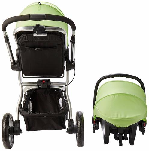 carriola evenflo legacy lx verde + portabebe/autoasiento
