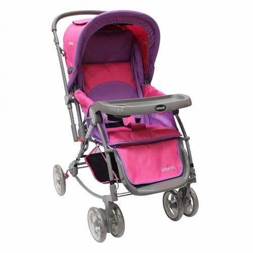carriola mecedora genova infanti | rosa/ turquesa/ rojo msi