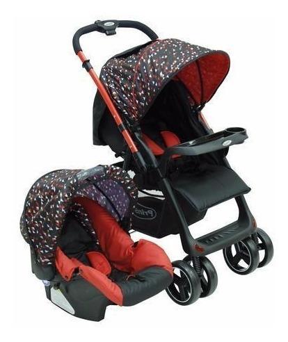 carriola para bebe con portabebe / autoasiento tango prinsel - rojo