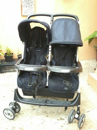 carriola para gemelos, italiana, marca peg perego, usada.