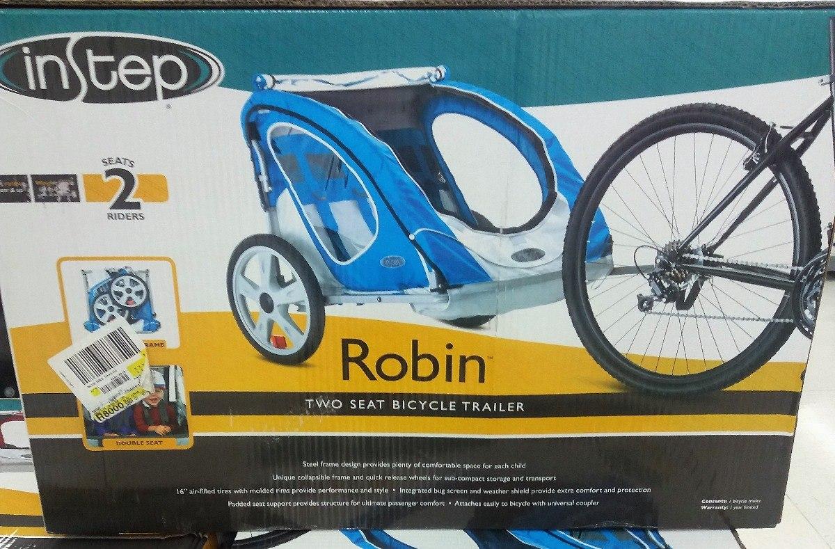 Carriola Remolque Para Bicicleta Para Dos Infantes 100% Nuev ...
