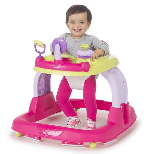 carrito caminador bebé listo caminar rosado puntos acolchado