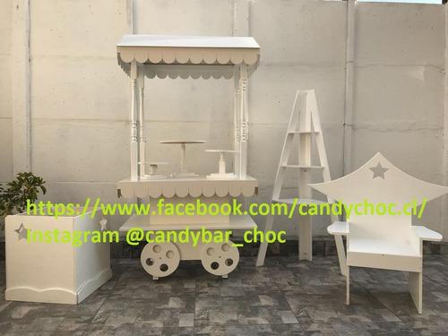 carrito candybar!! carrito candy bar arriendo, eventos