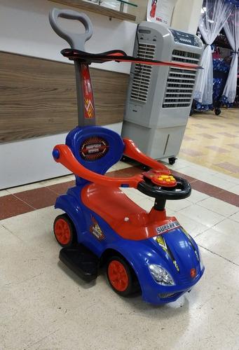 carrito corre pasillo luces + musical + seguro + guiador mtx