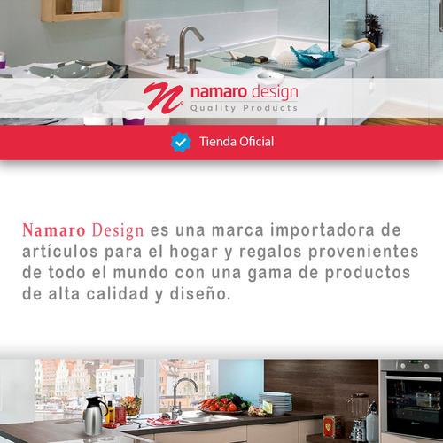 carrito de cocina cromado 3 niveles 4 llantas namaro design