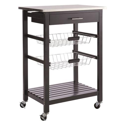 carrito de cocina grau negro këssa muebles