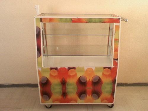carrito de gelatinas y postres
