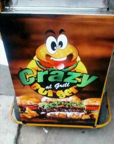 carrito de hamburguesa