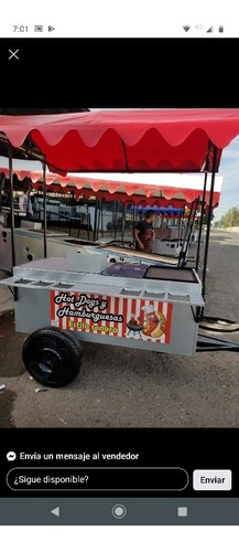 carrito de hotdog y anburguesas