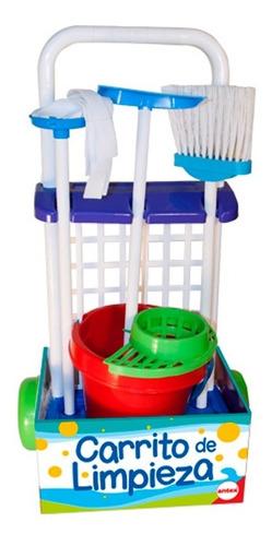 carrito de limpieza con balde escoba pala antex  en cadia
