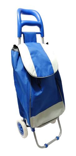 carrito de mercado plegable con bolsa de lona