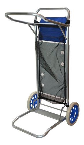 carrito de playa con ruedas y mesa portatil aluminio playero