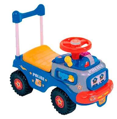carrito de policia montable azul musica para niños y bebes