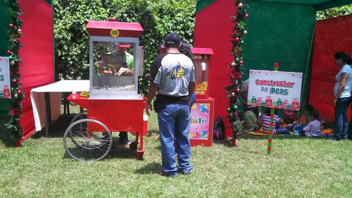 carrito de pop corn, algodón dulce, hamburguesas,chorizo