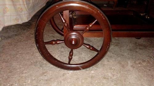 carrito de servicio que se hace mesa de madera antigua