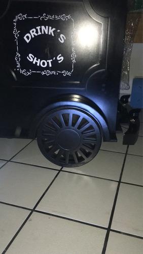 carrito de shots para eventos sociales