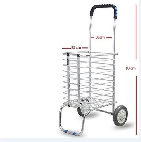 carrito diablito de carga multiusos plegable aluminio 50 kg