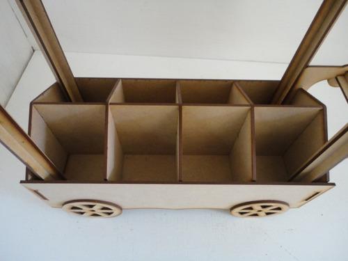 carrito dulcero con divisiones centro de mesa mdf