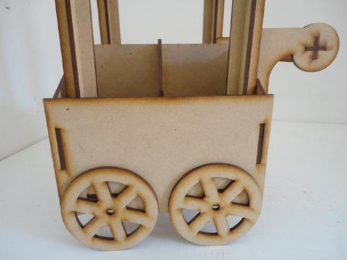 carrito dulcero con divisiones chico centro de mesa mdf