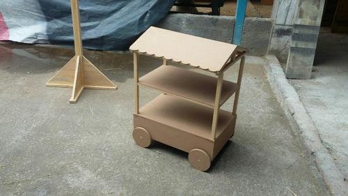 carrito dulcero mdf carrito para cupcakes