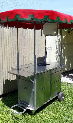 carrito food truck- tanques acero inoxidable- derretidores
