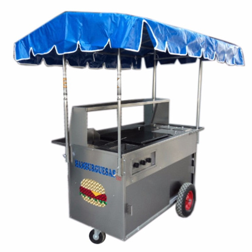 carrito hot dogs hamburguesas carreta puesto carro acero