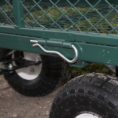 carrito jardin jardin utilitario carro volcado césped heav