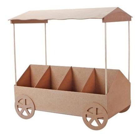 carrito mdf para candy bar dulces fiesta 50x57 cm