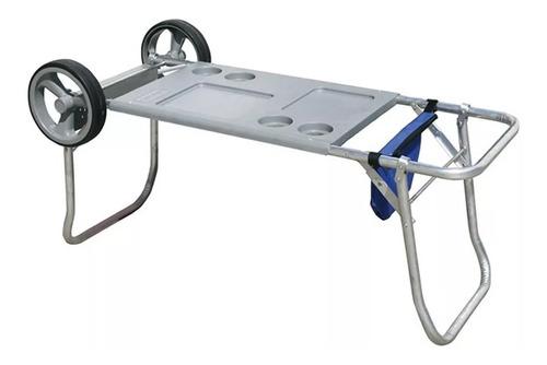 carrito mesa playa portatil plegable aluminio botafogo 649