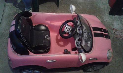 carrito mini cooper a control remoto, semi nuevo.$$$