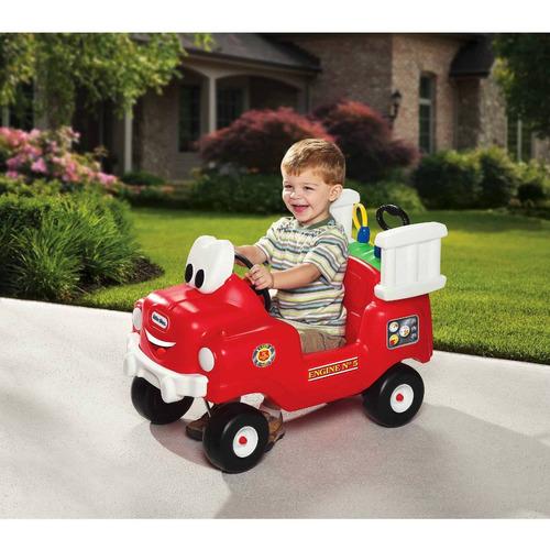 carrito montable para niño little tikes spray bombero xtrm