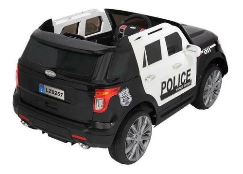 carrito montable policia bateria motor 12v control remoto