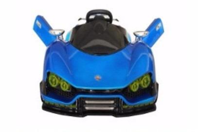 carrito nuevo tipo ferrari a bateria con control remot azul