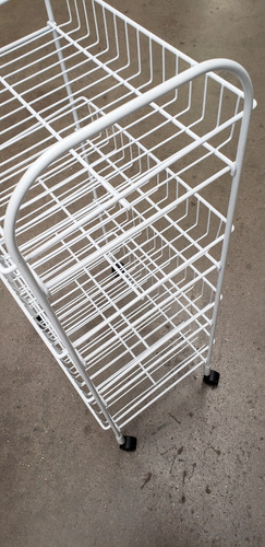 carrito organizador ruedas 4 nivls canasta 87x45x32cm