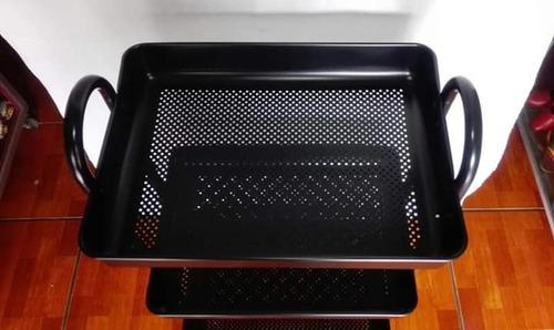 carrito para cocina de tres bandejas
