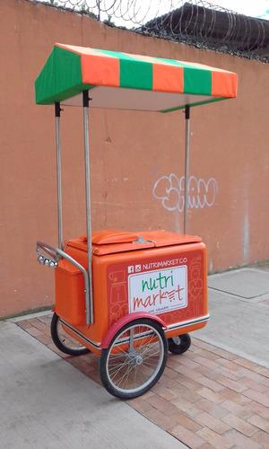carrito para la venta de paletas y alimentos en general