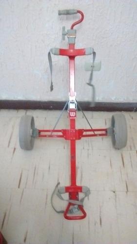 carrito para palos de golf marca wilson buenas condiciones