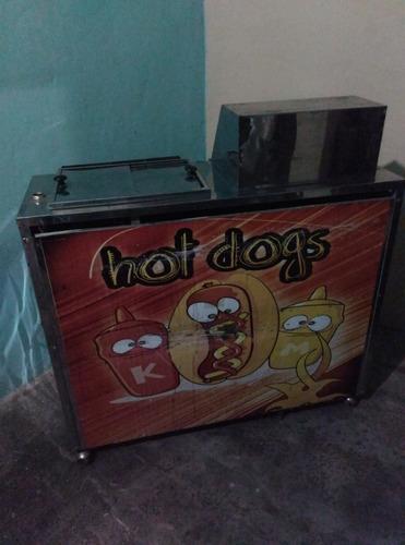 carrito para perros calientes y hamburguesas