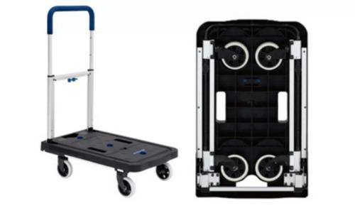 carrito plataforma de carga plegable capac. 137kg. aluminio