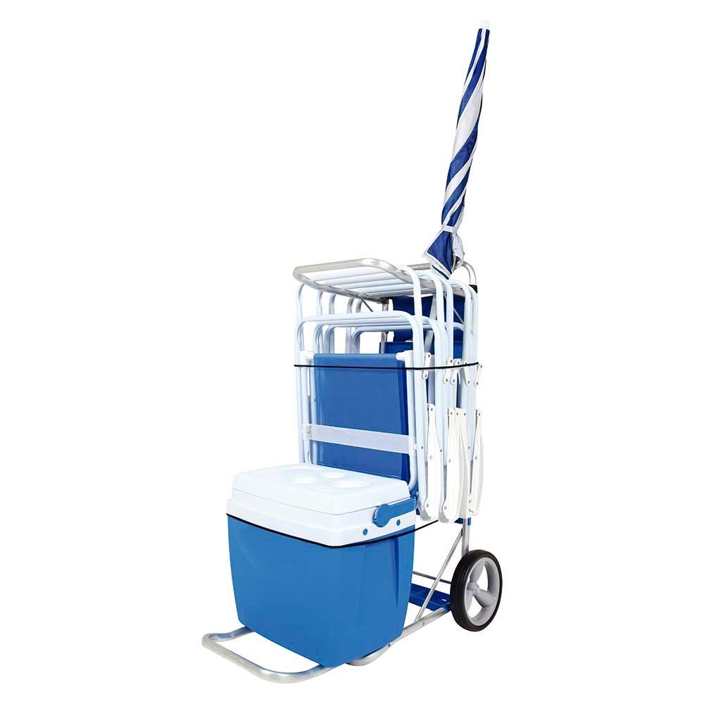 Carrito playa mor con capacidad para caja t rmica en mercado libre - Carro porta sillas playa ...