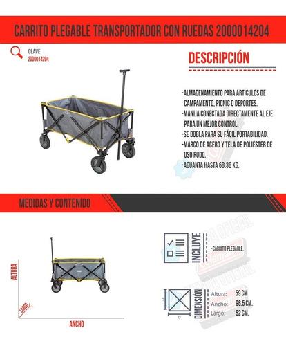 carrito plegable transportador con ruedas 2000014204 coleman