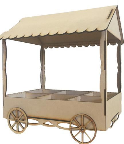 carrito pochoclero candybar fibrofacil 35x20x40 excelente !!