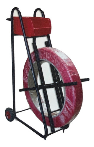 carrito portarollo para fleje de plastico modelo 100