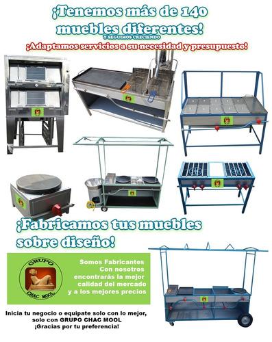 carrito taquero plancha choricera mesas abatibles p320