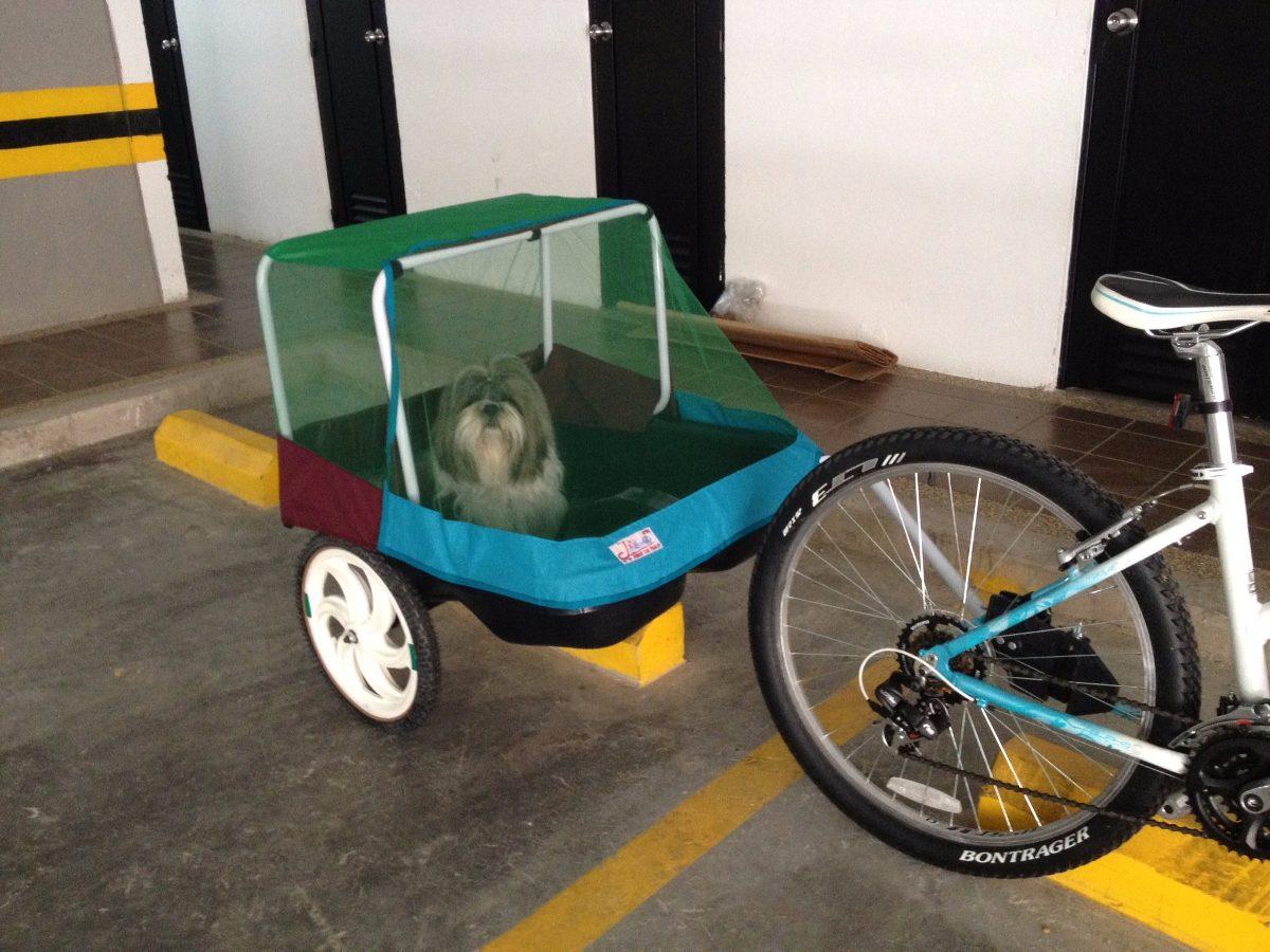 Carrito trailer remolque para bicicleta para ni os o for Carritos para perros