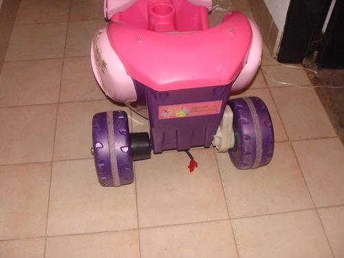 carrito tres ruedas de baterias de princesas disney