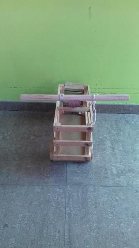 carritos de madera artesanales con iva
