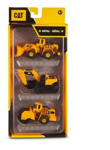 carritos de metal 3 pack caterpillar juguete cat original