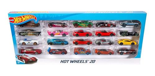 carritos hot wheels pack 20 vehiculos original 100% (35v)